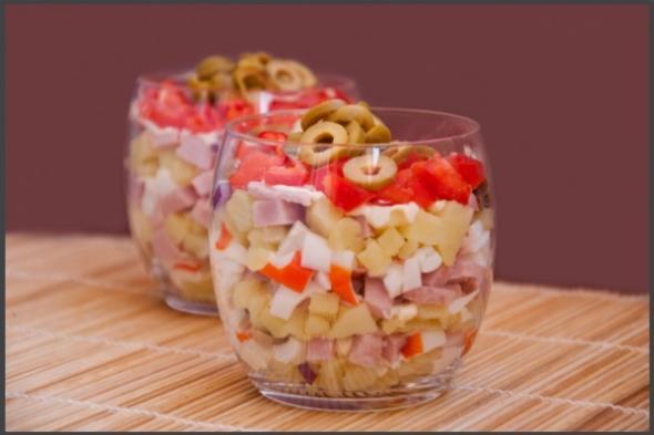 Салат пражский рецепт слоями 5