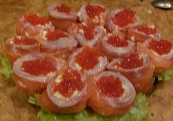 Салаты красной рыбой с фото
