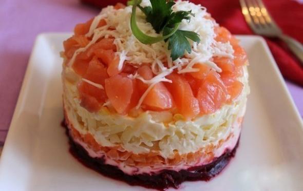 Шуба из рыбы салат