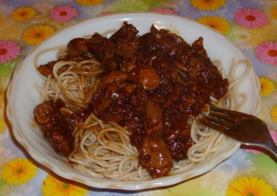 Куриные желудки с макаронами в мультиварке рецепты с фото
