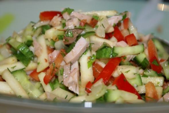 рецепты мясного салата с фото