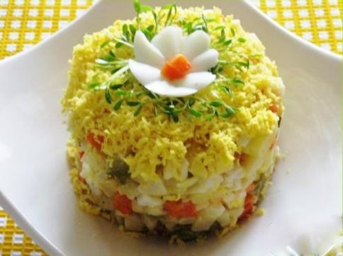 Салат морской кальмарами рецепт с фото