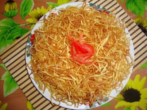 Корейские салаты полусырой картофель с мясом рецепты фото