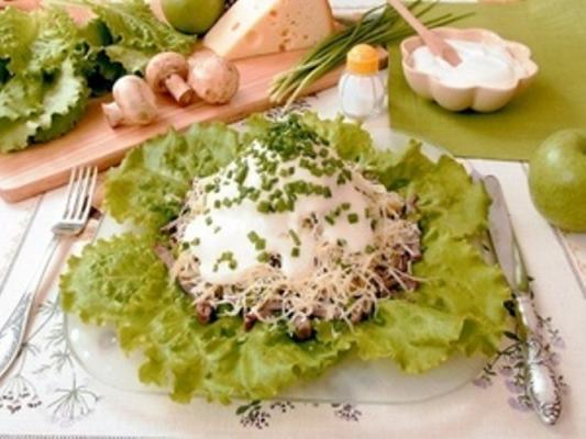 Фото мясной салат