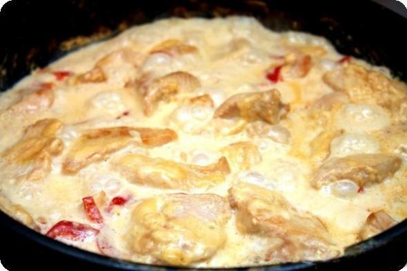 Курица под сливками в духовке