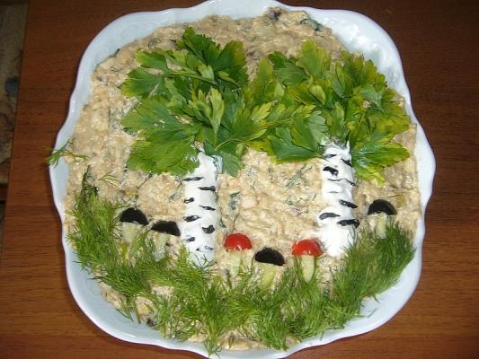 салат берёзовая роща рецепт с фото