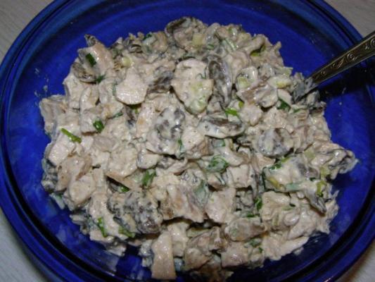 Грибы и курица салаты рецепты с