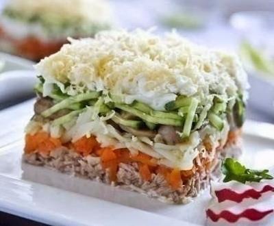 Рецепты салатов лисья нора