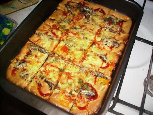 Заливная пицца в духовке рецепт пошагово