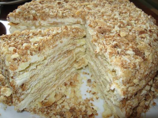 Домашний торт наполеон фото