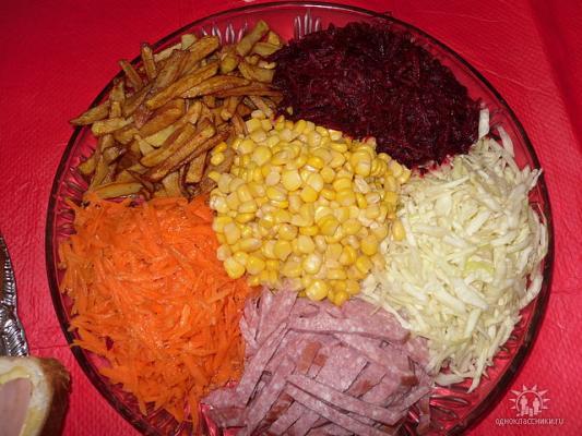 салаты ералаш рецепты с фото
