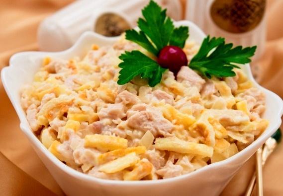 Нежность салаты с курицей рецепты с