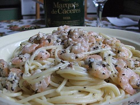 сливочная паста с креветками рецепт с фото
